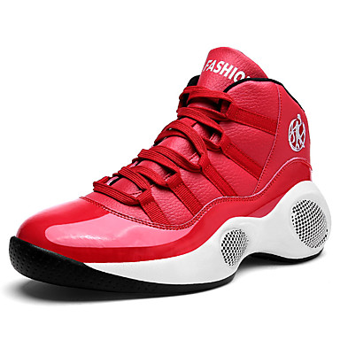 Ανδρικά Παπούτσια άνεσης PU Ανοιξη καλοκαίρι Αθλητικό Αθλητικά Παπούτσια Μπάσκετ Μη ολίσθηση Λευκό / Μαύρο / Κόκκινο