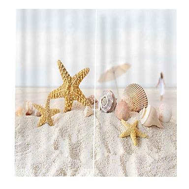 strandpromenaden klar utskrift design gardiner fortykkelse lydisolasjon hode isolasjon stoff gardiner møterom multifunksjonelle vanntett antiwrinkle dusj gardiner
