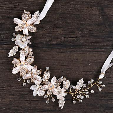 Κράμα με Τεχνητό διαμάντι / Λουλούδι 1 Τεμάχιο Γάμου / Γενέθλια Headpiece