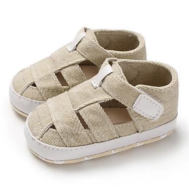 preiswerte Schuhe für Kinder-Jungen / Mädchen Lauflern Leinwand Sandalen Kleinkinder (0-9 m) / Kleinkind (9m-4ys) Dunkelgrau / Hellblau / Mandelfarben Sommer