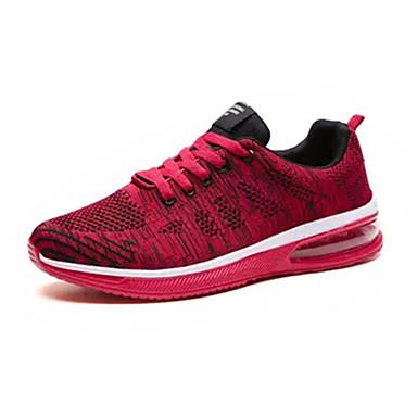 Ανδρικά Παπούτσια άνεσης PU Καλοκαίρι Αθλητικά Παπούτσια Περπάτημα Μαύρο / Σκούρο γκρι / Μαύρο / Κόκκινο