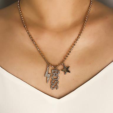 Γυναικεία Κρεμαστά Κολιέ Κρεμαστό Μοντέρνο Χρώμιο Χρυσό Ασημί 45 cm Κολιέ Κοσμήματα 1pc Για Δώρο Καθημερινά Απόκριες Αργίες Φεστιβάλ