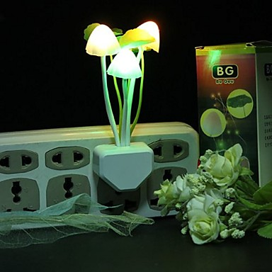 1pc Wall Plug Nightlight Θερμό Λευκό Δημιουργικό 110-120 V
