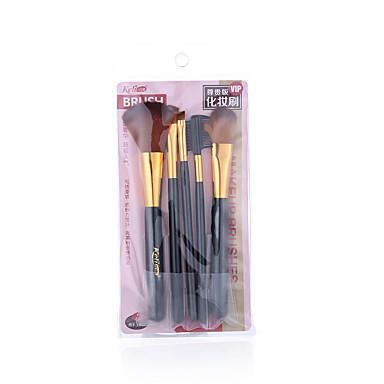 Profesjonell Makeup børster 5pcs Full Dekning comfy Kunstig fiber børste Plast til Sminkebørste
