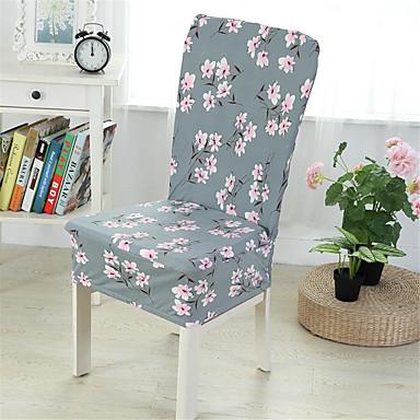 capa para cadeira de tecido tingido de poliéster / de plantas / com padrão floral / sakura / cinza