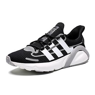 Ανδρικά Παπούτσια άνεσης Δίχτυ / Ελαστικό ύφασμα Καλοκαίρι Αθλητικό Αθλητικά Παπούτσια Τρέξιμο Μη ολίσθηση Συνδυασμός Χρωμάτων Λευκό / Μαύρο / Γκρίζο