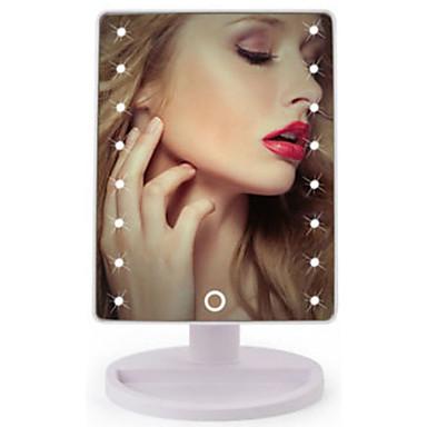 Kosmetiske speil LED Lys / Lett å bære / Ungdom Sminke 1 pcs ABS Kvadrant Pleie / Voksen / Daglig Tradisjonell / Mote Skole / Stevnemøte / Feriereise Hverdagssminke Fritid / hverdag Praktiskt