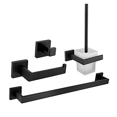 Σετ αξεσουάρ μπάνιου / Κρεμάστρα / Γάντζος για μπουρνούζι Νεό Σχέδιο / Δημιουργικό Σύγχρονο / Μοντέρνα Glass / Ανοξείδωτο Ατσάλι / Μεταλλικό 4pcs - Μπάνιο Επιτοίχιες