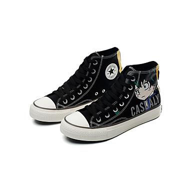 Ανδρικά Fashion Boots Πανί Καλοκαίρι / Ανοιξη καλοκαίρι Κλασσικό / Καθημερινό Αθλητικά Παπούτσια Αναπνέει Σύνθημα Λευκό / Μαύρο