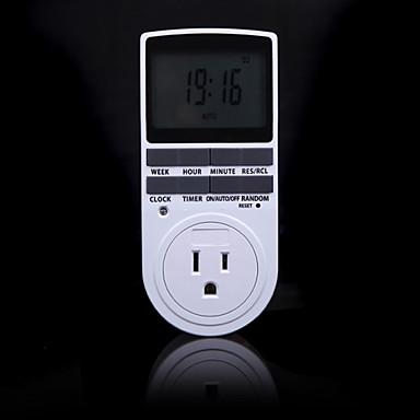 elektronisk digital tidsbryter 24 timers syklisk oss plugger kjøkkenutløser utløp programmerbar timing socket 220v