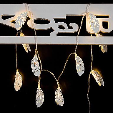 1.5m φτερό φτερό φως μεταλλικά 10 leds ζεστό λευκό γάμο Χριστούγεννα νέο έτος διακοσμητικά 5 σε 1 σύνολο
