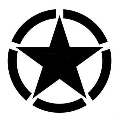 Estrela de cinco pontas adesivos tanque do carro da motocicleta corpo copo decalques à prova d 'água