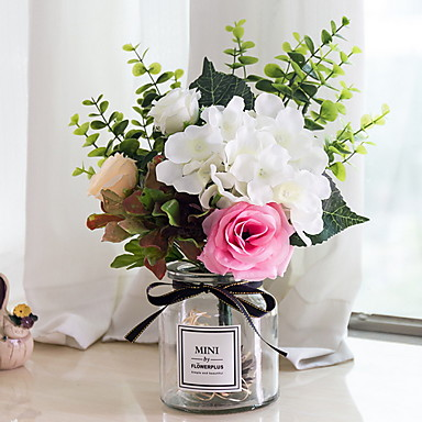 Flores artificiais 1 Ramo Clássico Contemporâneo Moderno Flores eternas Flor de Mesa