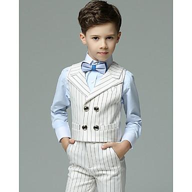 povoljno Odjeća za dječake-Djeca Dječaci Osnovni Jednobojni Dugih rukava Regularna Normalne dužine Komplet odjeće Obala