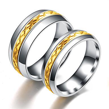 Herre Dame Band Ring Ring Tail Ring 1pc Gull Sølv Rustfritt Stål Titanium Stål Sirkelformet Grunnleggende Mote Gave Daglig Smykker Kul