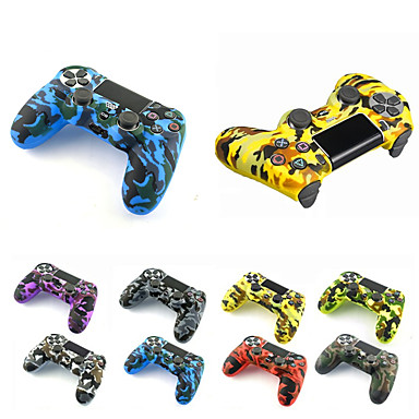 cheap PS4 Accessories-Silicone Rubber Cover Skin case Anti-Slip Water Transfer Customize Camouflage for PS4/SLIM/PRO