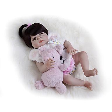 Κούκλες σαν αληθινές Μωρά Κορίτσια 22 inch Σιλικόνη πλήρους σώματος - Παιδικό / Εφηβικό Παιδικά Κοριτσίστικα Παιχνίδια Δώρο