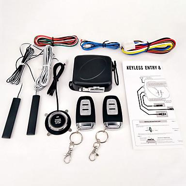 voordelige Automatisch Electronica-9 stks / set auto suv keyless entry motor start alarmsysteem drukknop afstandsbediening start stop auto