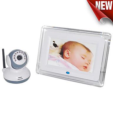7-tommers trådløs digital babyskjerm støtte nattesyn intercom-funksjon