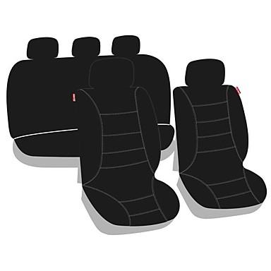 voordelige Auto-interieur accessoires-9-delige hoes auto m6 turbo / taille kussen kits zwart polycarbonaat gemeenschappelijk voor universeel alle jaren