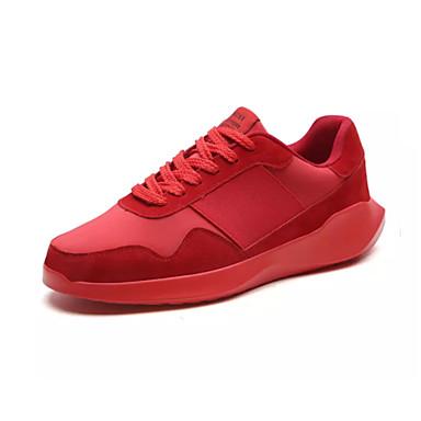 Ανδρικά Παπούτσια άνεσης PU / Ελαστικό ύφασμα Καλοκαίρι Αθλητικό Αθλητικά Παπούτσια Μη ολίσθηση Μαύρο / Κόκκινο / Γκρίζο