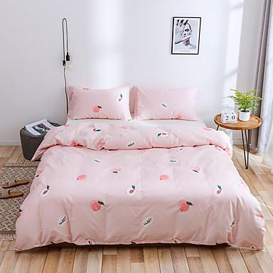 3 pcs conjuntos de cama consolador de luxo padrão dos desenhos animados roupa de cama de algodão capa de edredão fronhas folha de capa conjunto