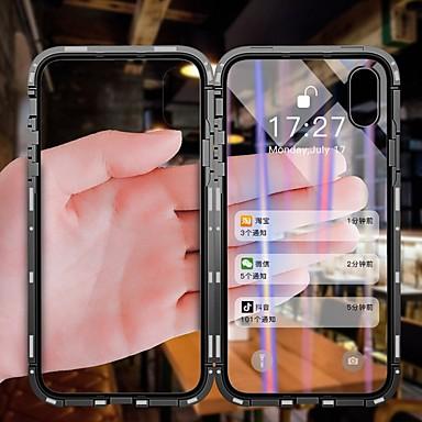 povoljno iPhone maske-Θήκη Za Apple iPhone X / iPhone 8 Plus / iPhone 8 Protiv prašine / Zaokret / Prozirno Korice Prozirno Tvrdo Kaljeno staklo / Metal / Aluminij