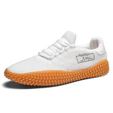 Homens Sapatos Confortáveis Tissage Volant Primavera / Outono Esportivo / Casual Tênis Corrida Respirável Preto / Branco / Vermelho / Não escorregar / Use prova