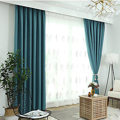 [$149.03] Blackout Two Panels Curtain Living Room Curtains / Jacquard