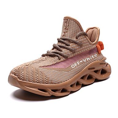 Ανδρικά Φως πέλματα Δίχτυ / PU Καλοκαίρι Αθλητικό / Καθημερινό Αθλητικά Παπούτσια Τρέξιμο / Περπάτημα Αναπνέει Μαύρο / Μπεζ / Γκρίζο