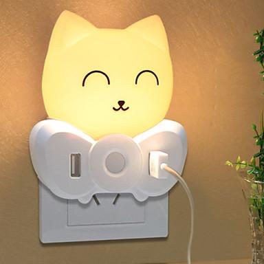 1pc Wall Plug Nightlight Gul Kreativ 220-240 V