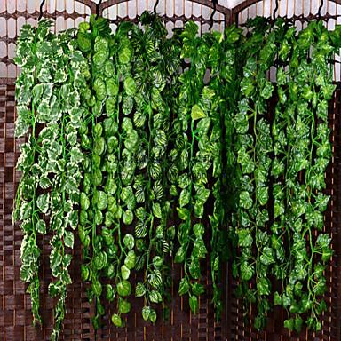 cheap Home Decor-Artificial Plants Plastic Party / Evening Vine Wall Flower Vine 1