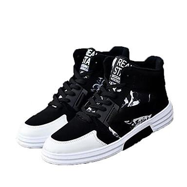 Ανδρικά Fashion Boots Σουέτ / PU Φθινόπωρο & Χειμώνας Μπότες Περπάτημα Μποτίνια Μαύρο και Άσπρο / Μαύρο / Κόκκινο / Μαύρο / Μπλε / Γραφείο & Καριέρα