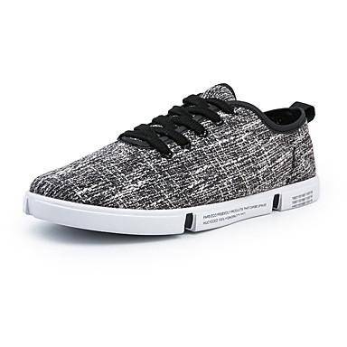 Homens Sapatos Confortáveis Lona Verão Tênis Branco / Bege / Cinzento / Ao ar livre