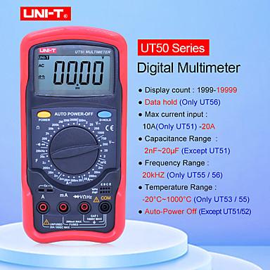 uni-t ut56 digital multimeter sant rms manuell rekkevidde 20000 teller 20a 1000v motstand kapasitansfrekvens multimetro uni-t
