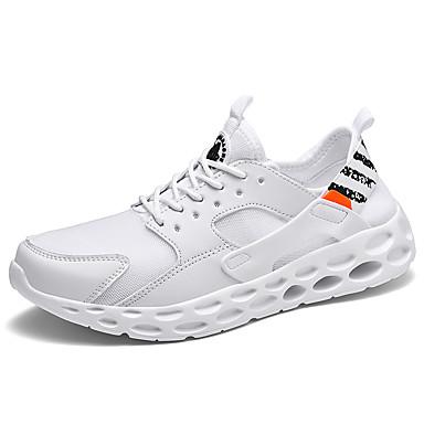Ανδρικά Φως πέλματα Δίχτυ Καλοκαίρι Αθλητικό / Καθημερινό Αθλητικά Παπούτσια Τρέξιμο / Περπάτημα Αναπνέει Λευκό / Μαύρο / Κόκκινο