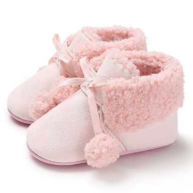 Κοριτσίστικα Πρώτα Βήματα Πανί Μπότες Βρέφη (0-9m) / Νήπιο (9m-4ys) Μαύρο / Γκρίζο / Ροζ Χειμώνας
