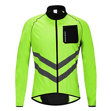 billige Motorsykkeljakker-wosawe refleks vanntett sykkel sykkel sykling sportsklær jakke vindtett regnfrakk trøye - l