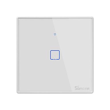 sonoff t2uk1c-tx tx serie wifi veggbryter smart vegg berøringsbryter for smart hjemme arbeid med alexa google hjemme 100-240v