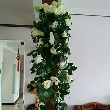 Kunstige blomster 1 Gren Veggmontert Moderne Roser Veggblomst