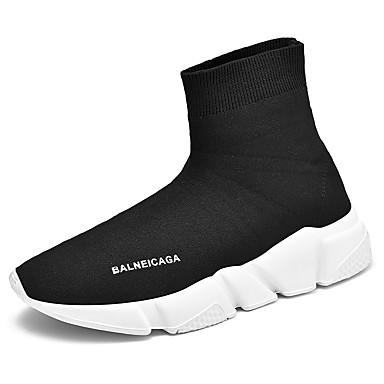 Ανδρικά Παπούτσια άνεσης PU Άνοιξη / Φθινόπωρο Αθλητικά Παπούτσια Μαύρο και Άσπρο / Κόκκινο / Μπλε
