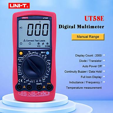 uni-t ut58e αμπερόμετρο multitester dmm ψηφιακά πολύμετρα dc / ac τάση αντοχή ρεύματος αντίσταση χωρητικότητας δεδομένων δοκιμών