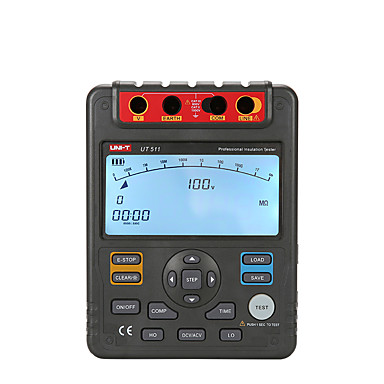 levne Testovací, měřící a kontrolní vybavení-uni-t ut511 1000v megger izolace zemnící zemní nízký odpor tester megohmmeter diagnostické nástroje pro ukládání dat auto-měřič