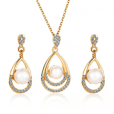 Γυναικεία Κρεμαστά Σκουλαρίκια Κρεμαστό Κοίλο Κρεμαστό Μοντέρνο Κορεάτικα Απομίμηση Μαργαριταριού Σκουλαρίκια Κοσμήματα Χρυσό / Ασημί Για Γάμου Πάρτι Δώρο Καθημερινά 1set