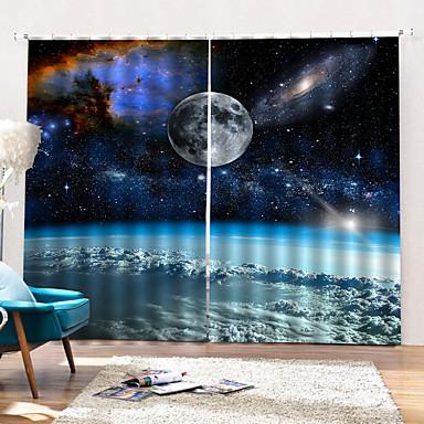 custom starry ουρανό θέμα παχιά ύφασμα κουρτίνα κρεβατοκάμαρα / καθιστικό αδιάβροχο κουρτίνα ντους μαυρίσματος με δαχτυλίδια