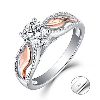 personlig tilpasset Klar Kubisk Zirkonium Ring Klassisk Gave Love Festival Geometrisk Form 1pcs Sølv