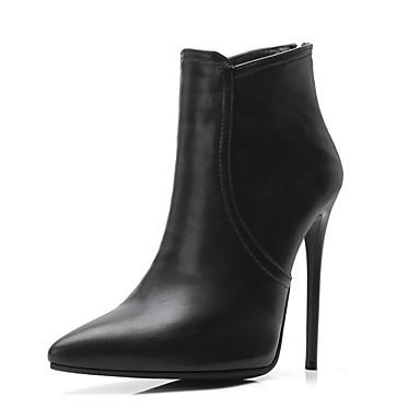 Γυναικεία Μπότες Σέξυ μπότες Τακούνι Στιλέτο Μυτερή Μύτη PU Μποτίνια Φθινόπωρο & Χειμώνας Μαύρο / Γκρίζο / Χακί / Πάρτι & Βραδινή Έξοδος