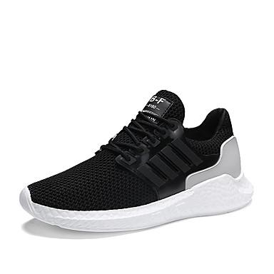 Ανδρικά Φως πέλματα Δίχτυ Καλοκαίρι Αθλητικό / Καθημερινό Αθλητικά Παπούτσια Τρέξιμο / Περπάτημα Αναπνέει Λευκό / Μαύρο / Γκρίζο