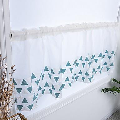 Mønster Semi-Sheer Et panel Gardin Soverom   Curtains