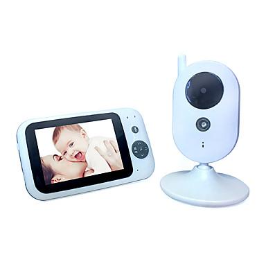 3,5 tommers digital baby monitor multi-språk temperatur display toveis intercom night vision musikkavspilling